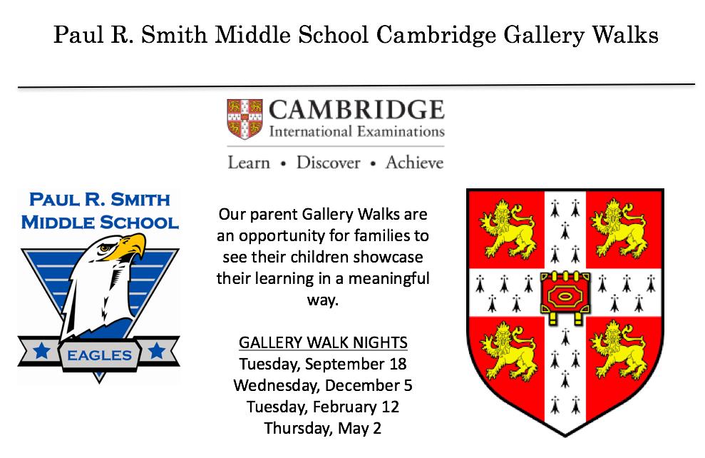 Cambridge Programme | Paul R  Smith Middle School
