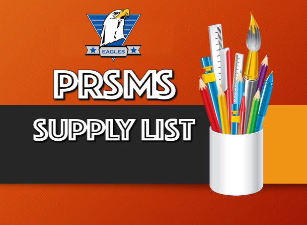 PRSMS Supply List