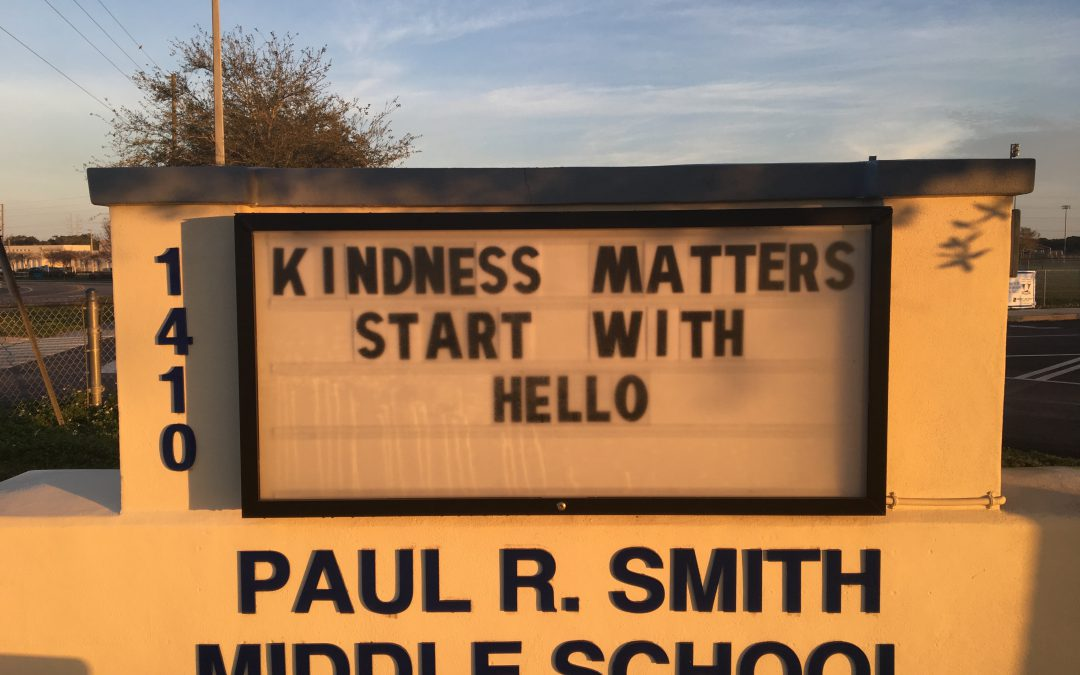 Kindness Matters…Start with Hello