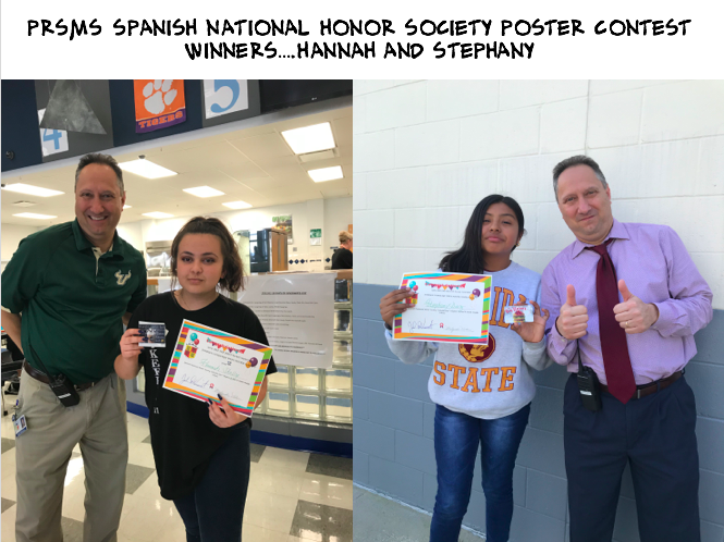 Spanish National Honor Society Contest Winners – Congratulations!