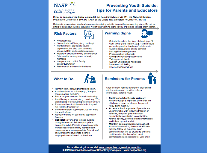 Suicide Prevention – How you can help!