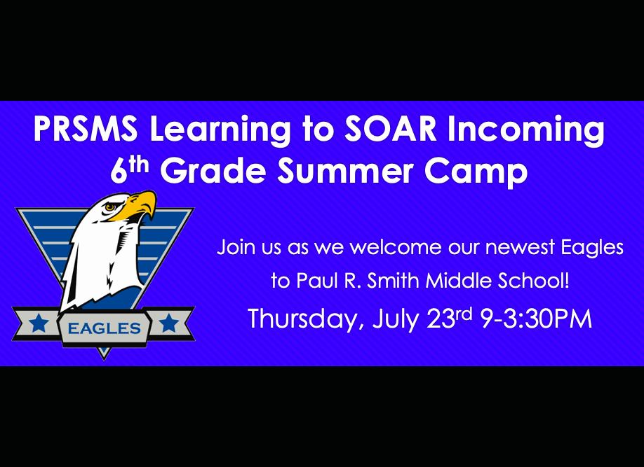 6th Grade Summer Camp!