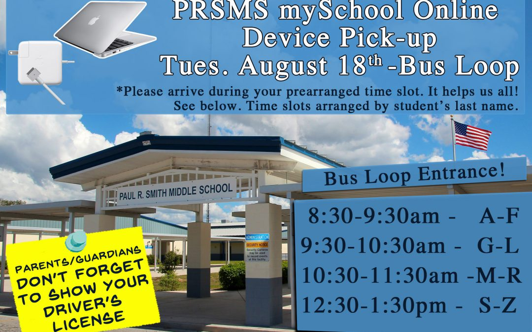 Device Pick-up Day for Option 2: mySchool Online