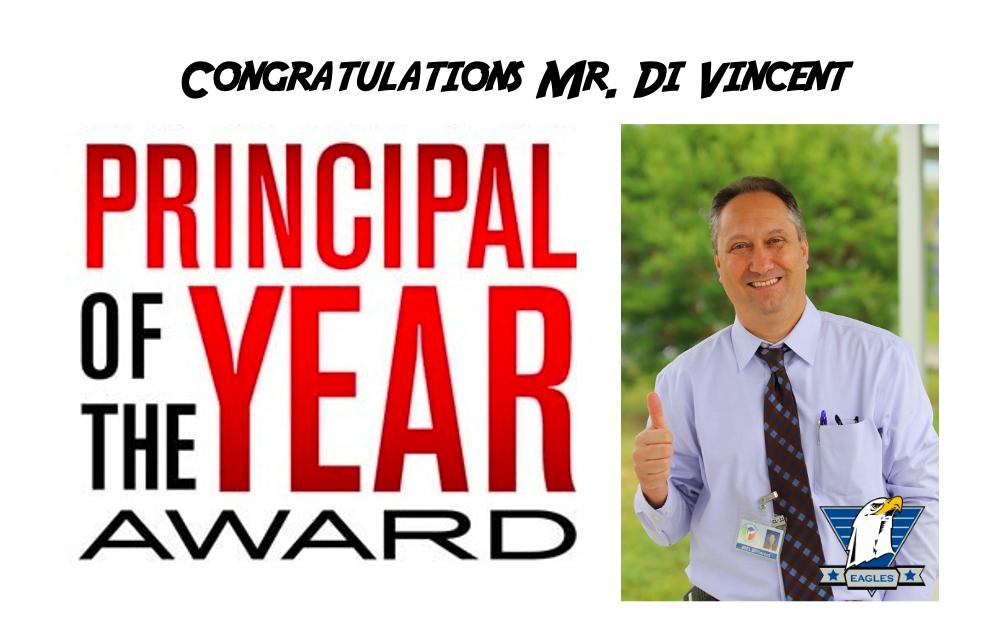 Congratulations to Mr. Di Vincent – PCS Principal of the Year