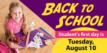 Student first day of school!