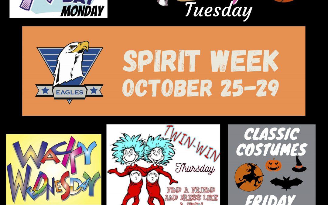 Eagle Spirit Week – October 25-29